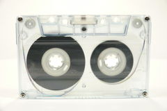Tape. Magnetic cassette tape isolated over white Royalty Free Stock Image