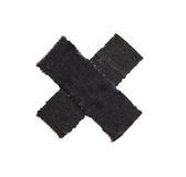 Tape. Black tape on white background Stock Image