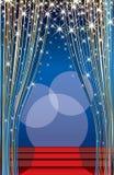 Étape bleue d'aube Images stock