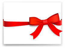Tape and bow. Greeting card or the certificate Royalty Free Stock Photography