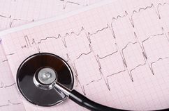 The tape with the cardiogram of a man Stock Photo
