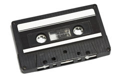 Tape cassette. Isolated on white Royalty Free Stock Images
