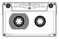 Tape cassette. Precise copy of a tape cassette in Stock Image