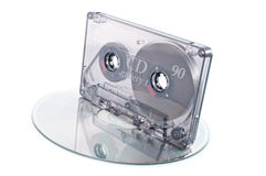 Tape cassette and digital compact disc Royalty Free Stock Image