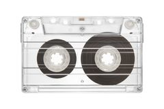 Tape cassette. Isolated on white background Royalty Free Stock Images