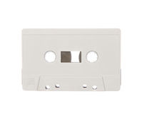 Tape cassette isolated on white Stock Images