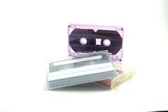 Tape Cassette Old audio tape Stock Image