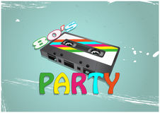 Tape cassette party Stock Images