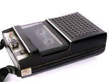 Tape cassette recorder Royalty Free Stock Photos