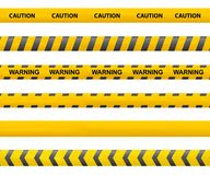 Tape caution. Police line. Warning tape vector. Accident stock illustration