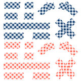 Tape checkered pattern - blue and red Stock Photography