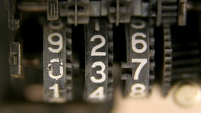 Tape counter gears stock footage