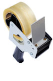 Tape Dispenser. Packaging Tape Gun Dispenser Isolated Over White royalty free stock image