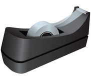Tape dispenser. With adhesive tape. Office equipment. Vector illustration Royalty Free Stock Photography