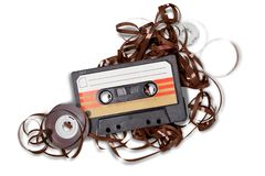 Tape. Dj retro audio music isolated historical Royalty Free Stock Images