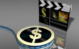 Tape du dollar Images libres de droits