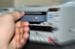 Tape with dv recorder Royalty Free Stock Image