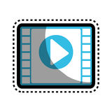 Tape film isolated icon. Vector illustration design Royalty Free Stock Images