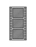 Tape film record design. Illustration eps10 graphic Royalty Free Stock Photography