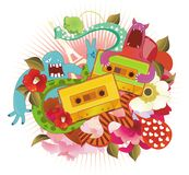 Tape with funky pattern Stock Photo