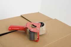 Tape gun horizontal Royalty Free Stock Photo