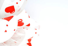Ribbon. Tape with hearts for gift wrapping Stock Photos