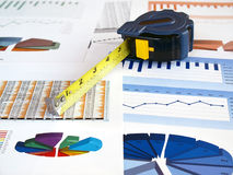 Tape on investment charts Royalty Free Stock Photo