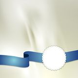 Tape and label on light silk background Royalty Free Stock Photos