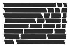 Tape Lines Black Set 02 Stock Photo