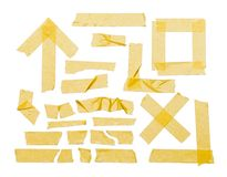 Tape Masking Pieces Royalty Free Stock Images