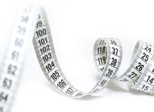 Tape Measure. On white background Royalty Free Stock Image