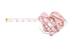 Tape measure isolated on a white background Stock Image
