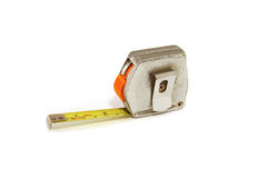 Tape Measure. Very old and well used tape measure stock photos