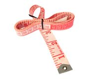Tape Measure. Over white background Royalty Free Stock Photo