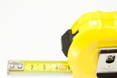 Tape Measure. Open with tape measure on white background Royalty Free Stock Images