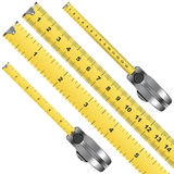 Tape measure. Inches and centimeter scale over white Royalty Free Stock Image