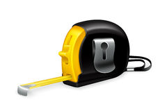 Tape measure. Computer illustration on a white background Stock Image