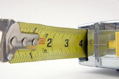 Tape measure. A close up look at the business end of a tape measure Royalty Free Stock Image
