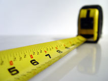 Tape measure. Detail shot Royalty Free Stock Photos