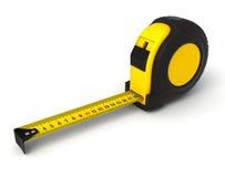 Tape measure. Yellow tape measure 3d illustration Stock Image