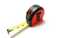 Tape Measure. A photo of tape measure isolated on the white background Stock Photo