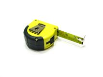 Tape Measure. A photo of tape measure isolated on the white background Royalty Free Stock Images