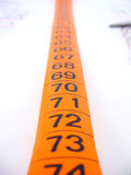 Tape measure. Work table of a fashion designer Royalty Free Stock Images