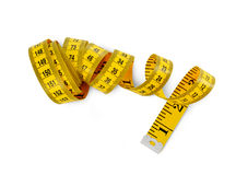 Tape measure aerial view Royalty Free Stock Images