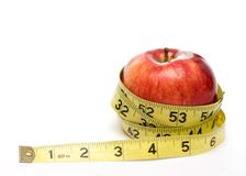 Tape Measure Apple Stock Images