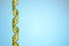 Tape measure background Stock Images
