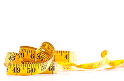 Tape Measure Background Image with Custom Space Stock Photo