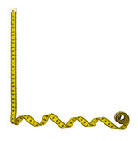 Tape measure border frame, background - isolated Stock Photos