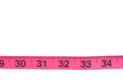 Tape measure border in a weight loss concept Royalty Free Stock Photos