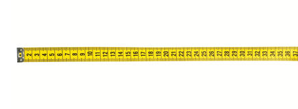 Tape Measure With CLIPPING PATH Royalty Free Stock Image